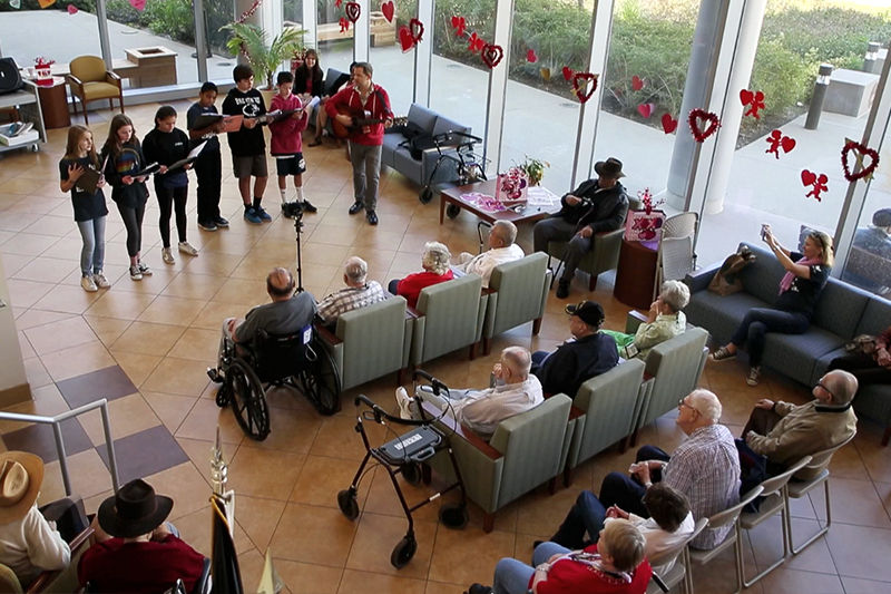MS Chorus Visits Vets on Valentine's Day