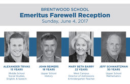 Brentwood School Emeritus Farewell Reception