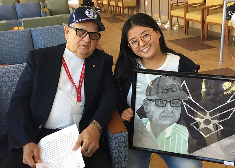 More Than A Token of Appreciation: Art Students Honor Veterans at the VA