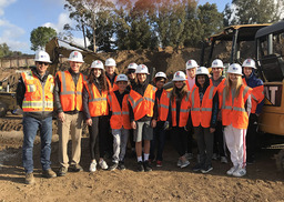 "Middle School ""Future Engineers"" Tour the Construction Site"