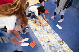 Art + Community Service = The 6th Grade Tile Mural Project