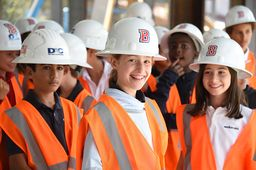 5th and 6th Graders Get an Insider's Look at Their New Building