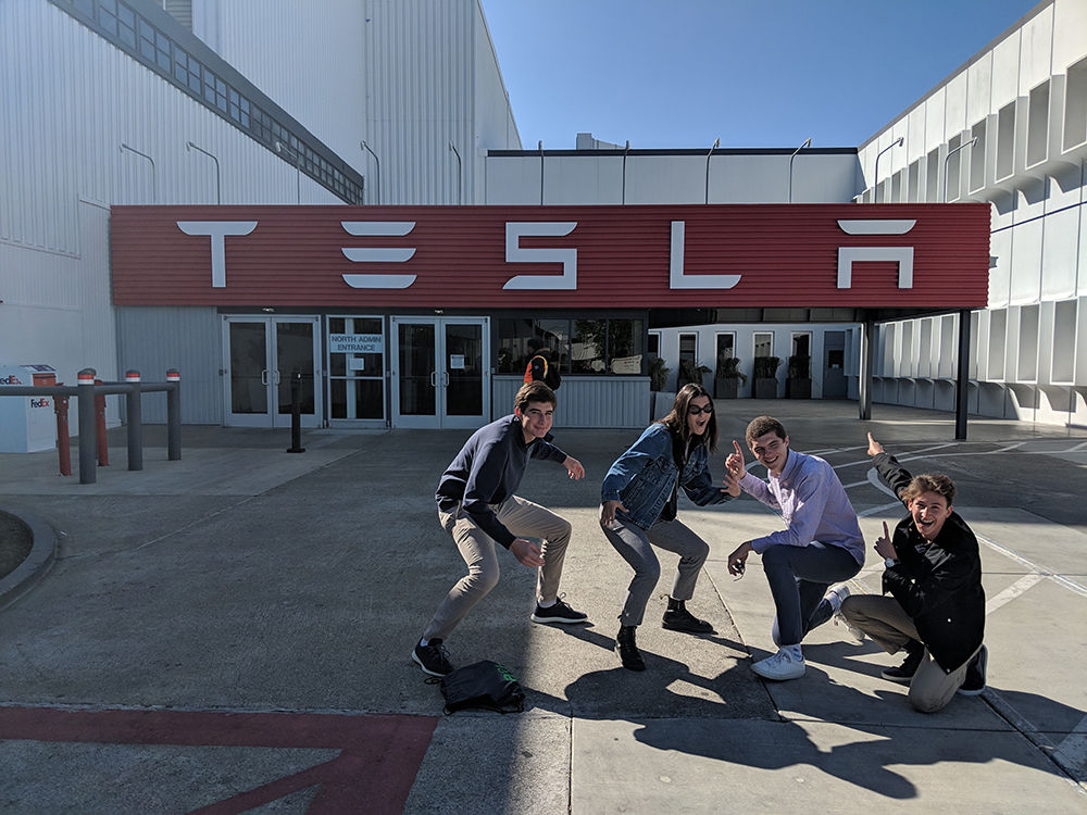 Overall Challenge of the Month Winners Visit Tesla Factory